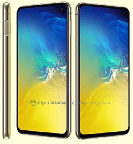 Фото: Galaxy S10e в ярко-жёлтом исполнении и некоторые подробности о серии
