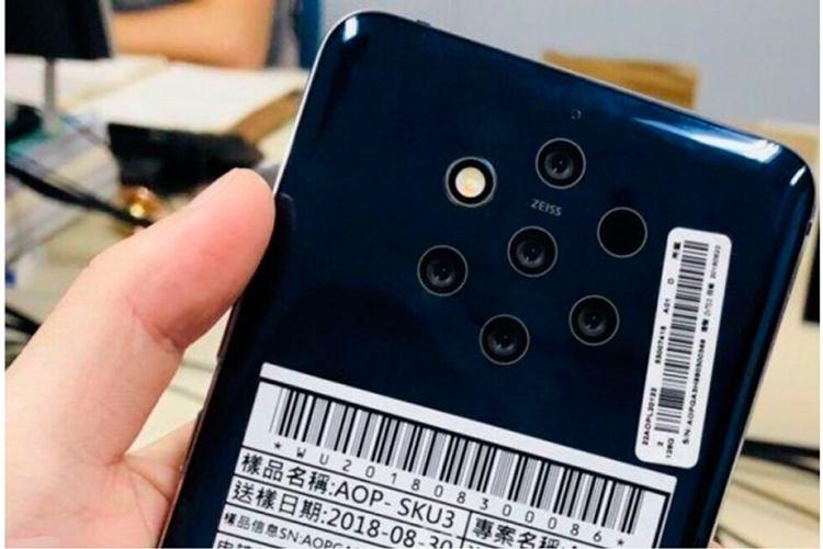 Nokia 9 с пятимодульной камерой и сканером отпечатков в дисплее показался на пресс-рендере