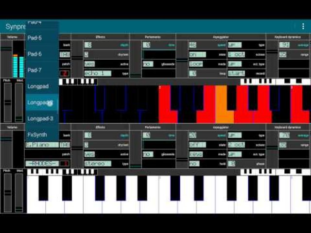 Обзор приложения Полифонический синтезатор
