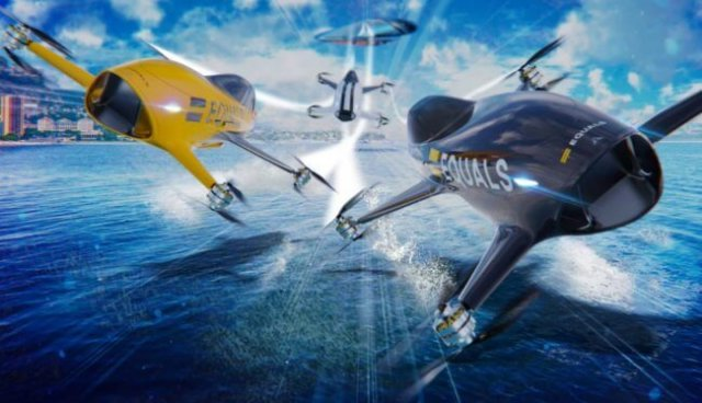 Стартует новый вид спорта - гонки на летающих автомобилях