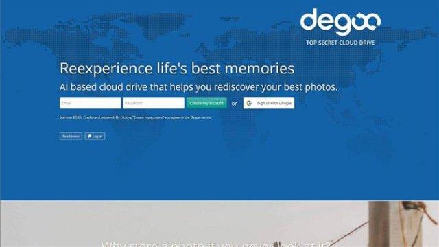 Облачное хранилище Degoo