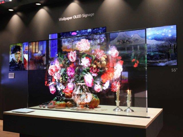 LG показала прозрачный OLED сенсорный экран