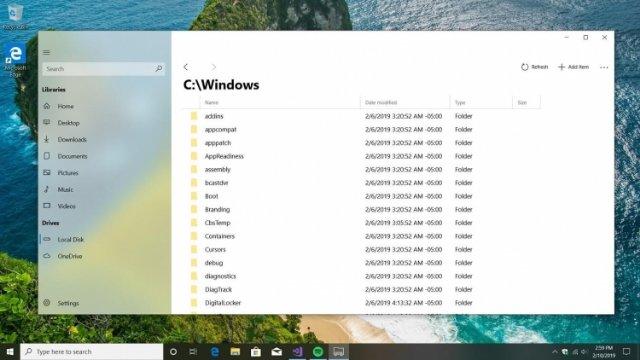 Это, скорее всего, новый файловый менеджер Windows 10
