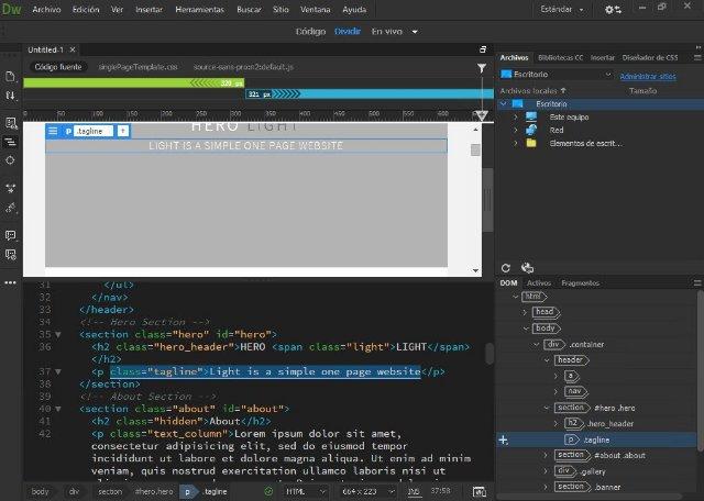 Создание своего сайта с помощью Dreamweaver