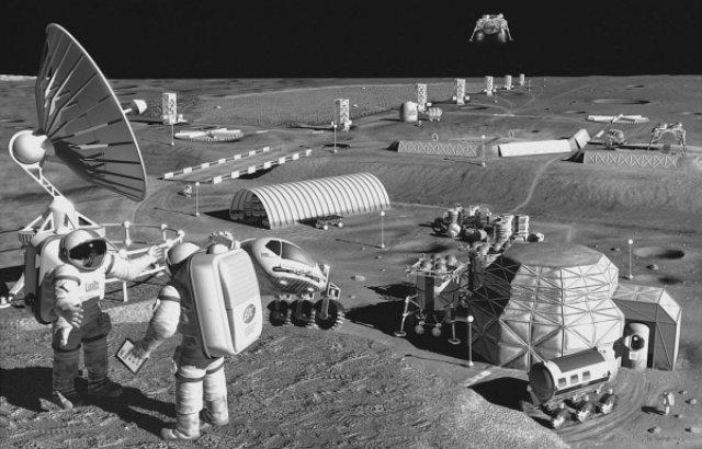 NASA хочет создать саморемонтирующиеся базы на Луне и Марсе