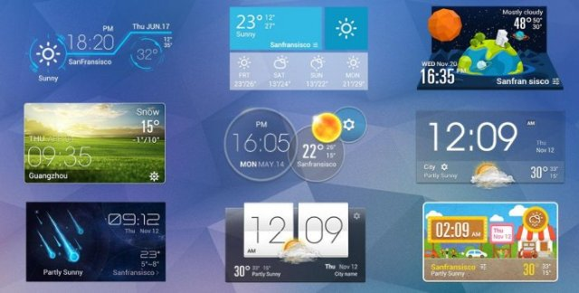 Виджеты для Андроид Glass Widgets
