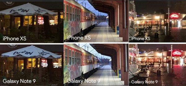 IPhone XS проиграл Galaxy Note 9 по качеству съемки при плохом освещении