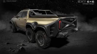 Поляки представили концепт шестиколесного тюнинга Mercedes