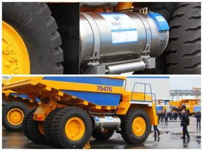 В Белоруссии выпустили БелАЗ, работающий на газу