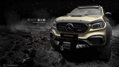 В Сети показали новый шестиколесный Mercedes