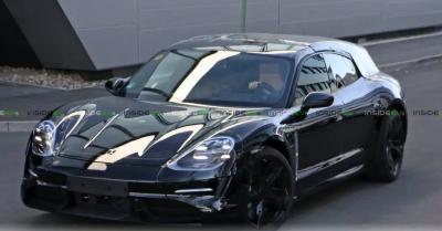 Появились фотографии электрического универсала Porsche