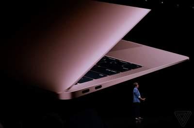 Apple представила обновленный ноутбук MacBook Air