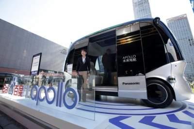 В Китае показали беспилотный автобус на электрической тяге