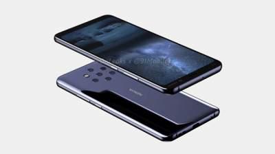 Nokia 9 оснастили камерой с пятью фотомодулями