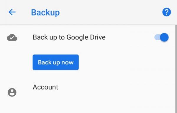 Резервное копирование для Google Drive теперь можно осуществлять вручную