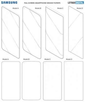 Samsung запатентовала несколько версий дизайна Galaxy S10