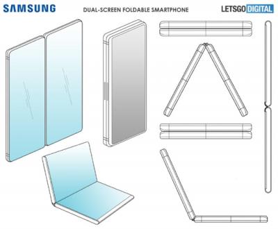 Samsung изобрела необычный складной смартфон