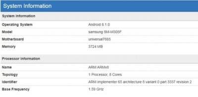 В Сети появились характеристики Samsung Galaxy M30