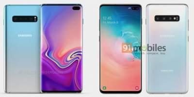 Появился официальный пресс-рендер Samsung Galaxy S10 Plus