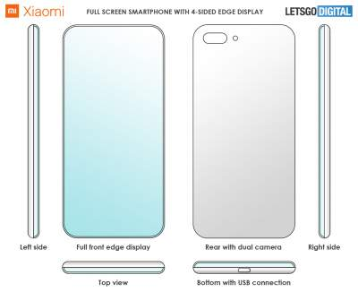 Xiaomi запатентовала дисплей на всю лицевую панель смартфона