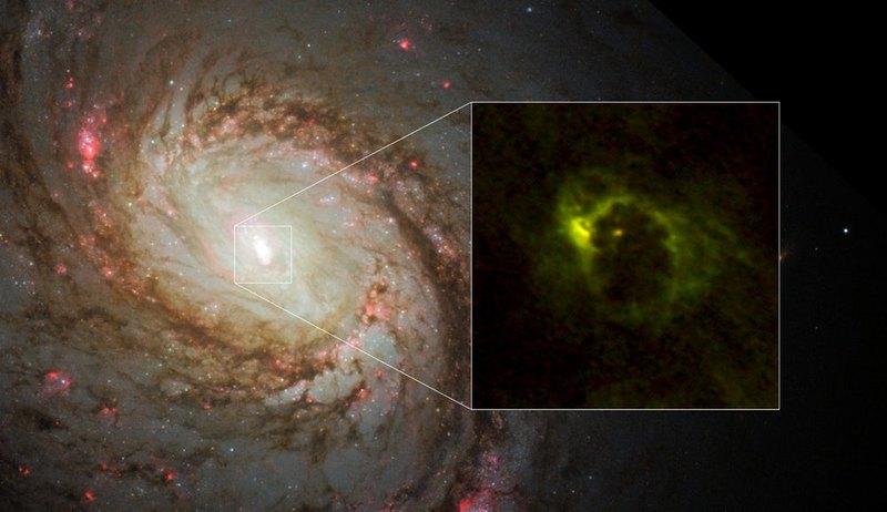 Первый качественный снимок газопылевого кольца вокруг черной дыры