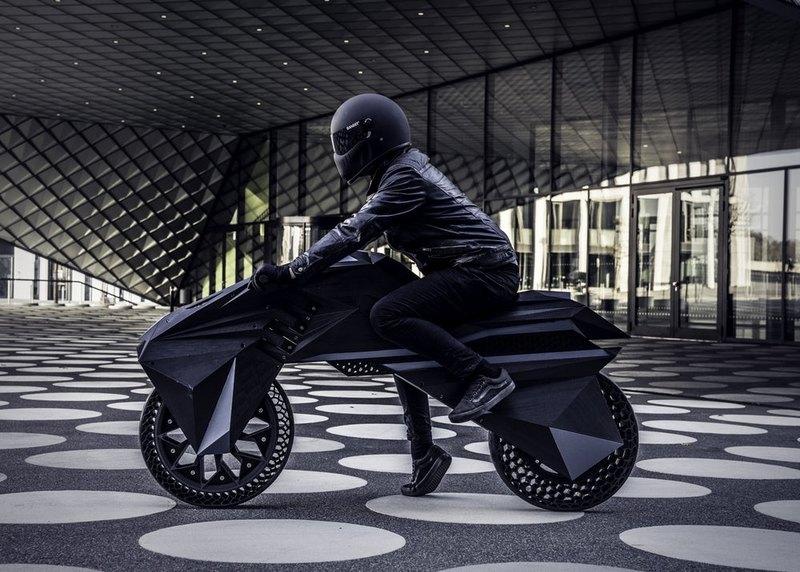 Презентован первый в мире 3D-печатный электромотоцикл