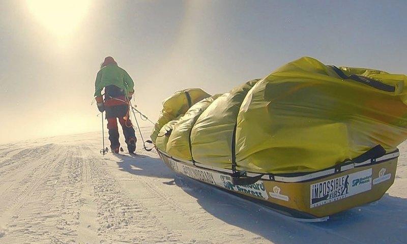 Лыжник впервые пересек Антарктиду в одиночку