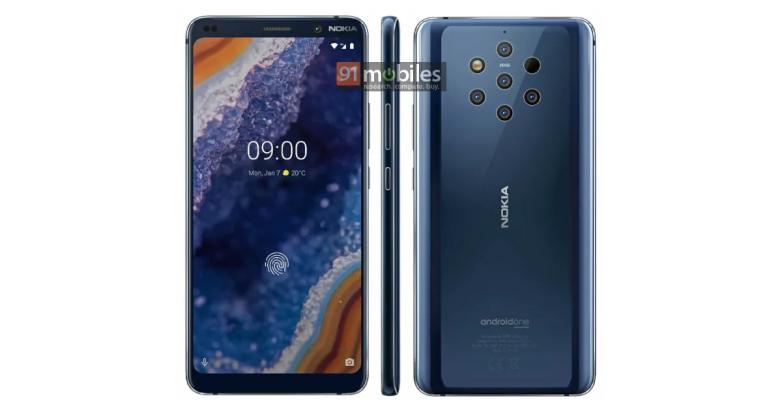 Nokia 9 PureView с 5 задними камерами: новое изображение