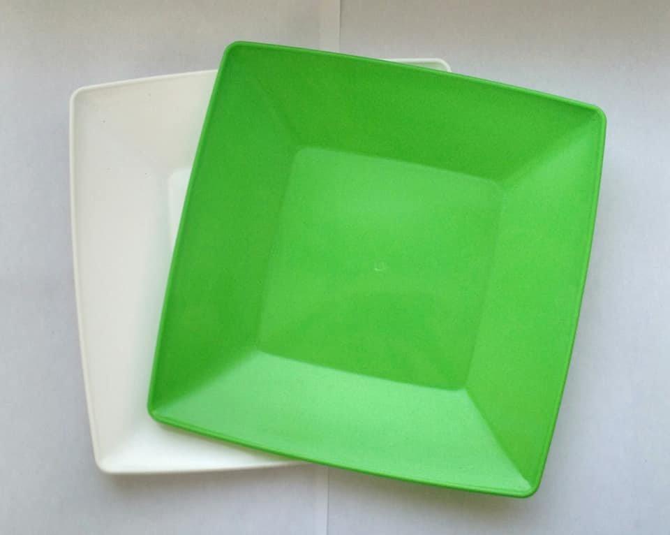 Одноразовые пластиковые тарелки премиум-класса