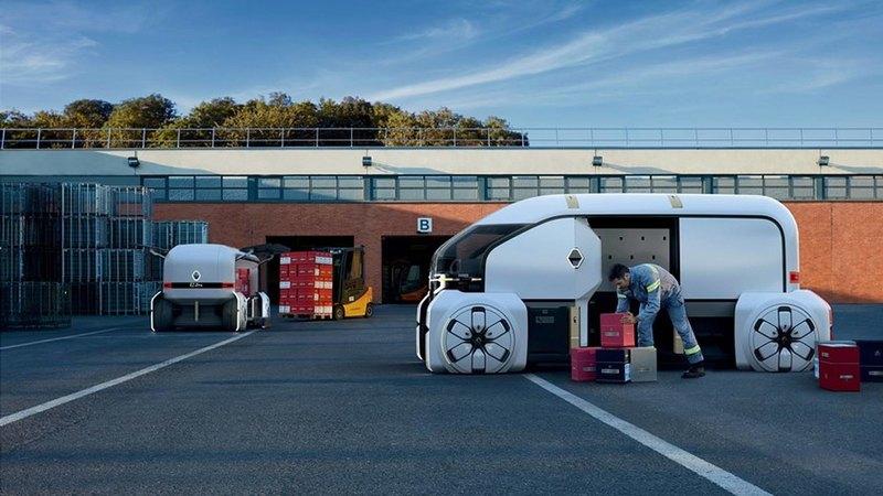 Renault EZ-Pro: концептуальный беспилотник-доставщик будущего