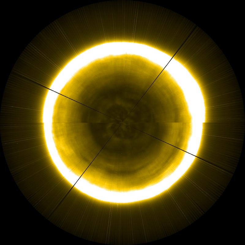 Получено уникальное изображение северного полюса Солнца