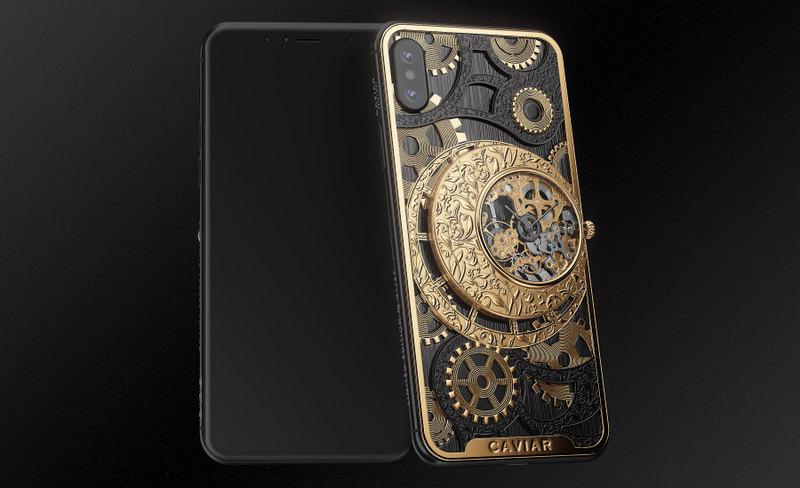iPhone оборудовали механическими часами