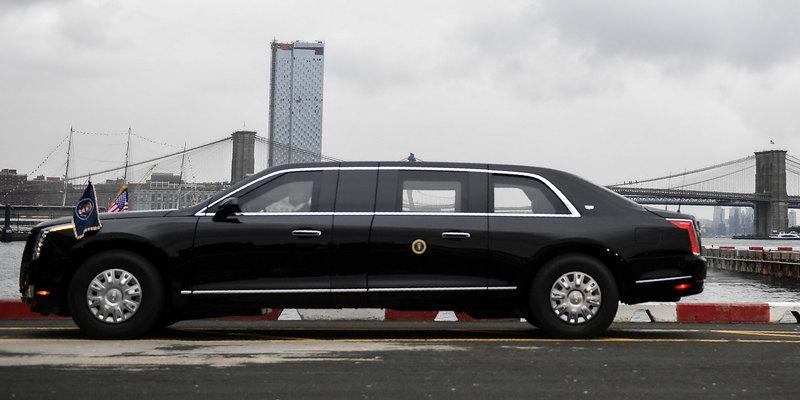 Новый лимузин Трампа показался на публике