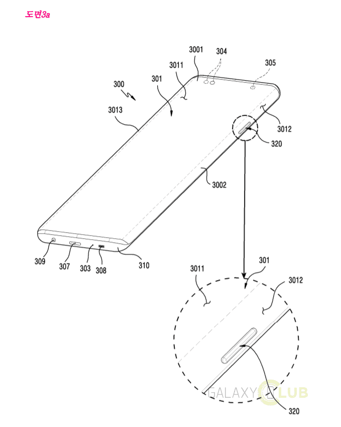 Патентная заявка Samsung: изогнутый дисплей с «вырезами» под кнопки