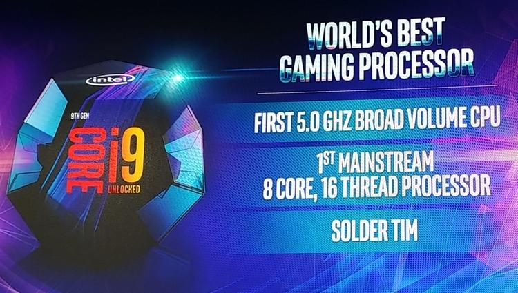 Intel назвала Core i9-9900K лучшим процессором для игр, ссылаясь на фейковые тесты