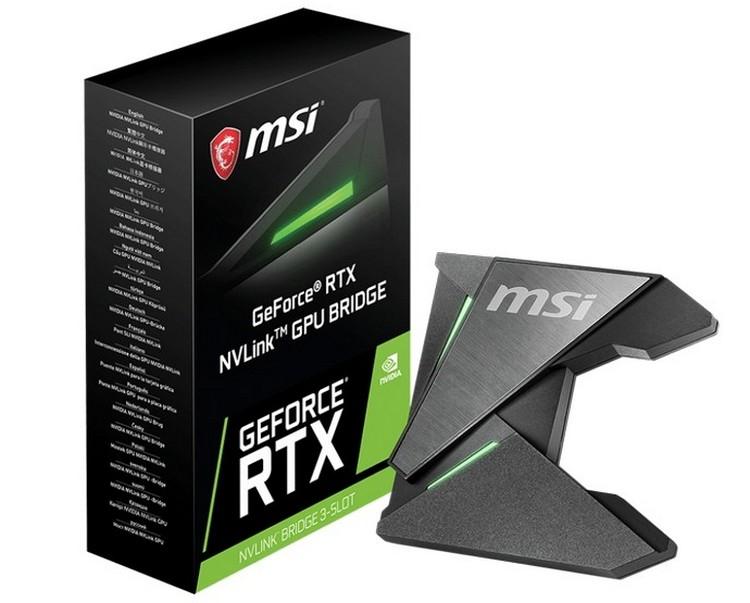 MSI представила свой собственный мостик NVLink для видеокарт GeForce RTX