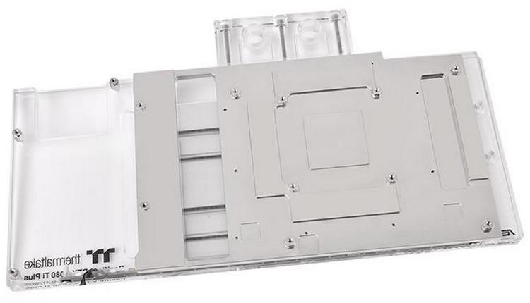 Thermaltake представила водоблоки Pacific V-RTX для видеокарт ASUS GeForce RTX серии ROG Strix