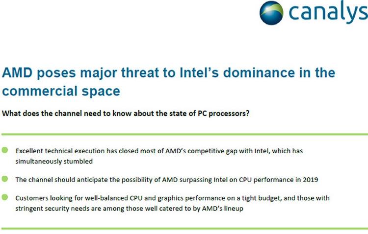 AMD превзойдёт Intel по производительности процессоров в 2019 году