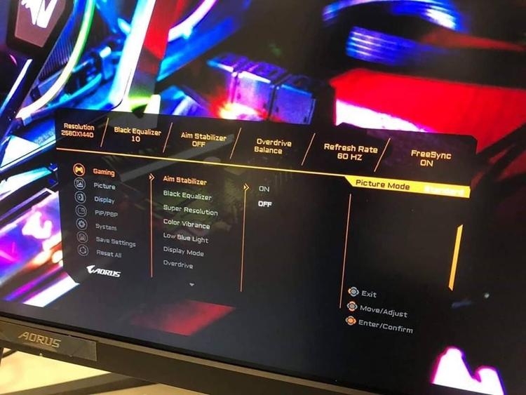 CES 2019: Игровой монитор GIGABYTE Aorus с технологией FreeSync