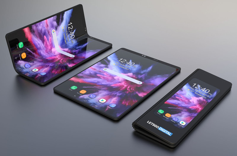 Складной смартфон Samsung: рендеры