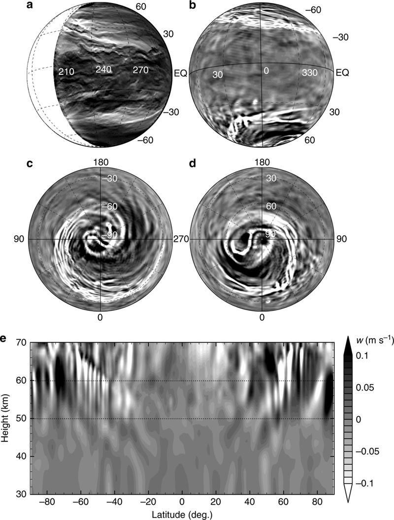 В атмосфере Венеры обнаружены вихри планетарного масштаба
