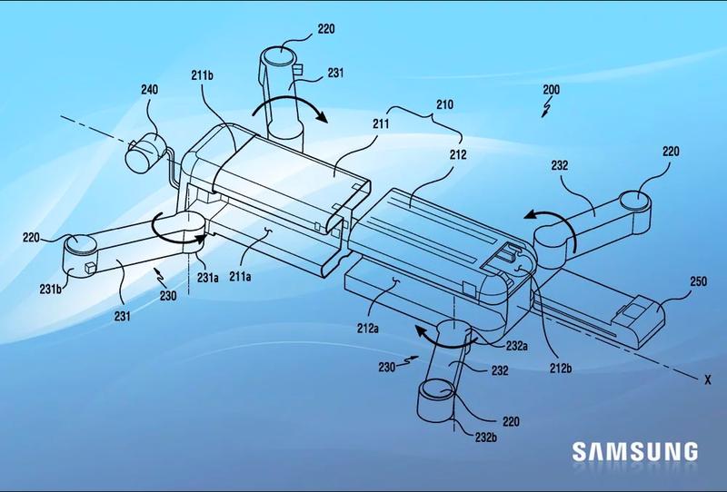 Samsung запатентовал первый дрон-трансформер