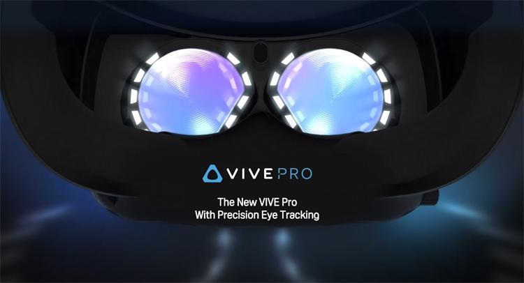 CES 2019: VR-шлем HTC Vive Pro Eye отслеживает взгляд пользователя