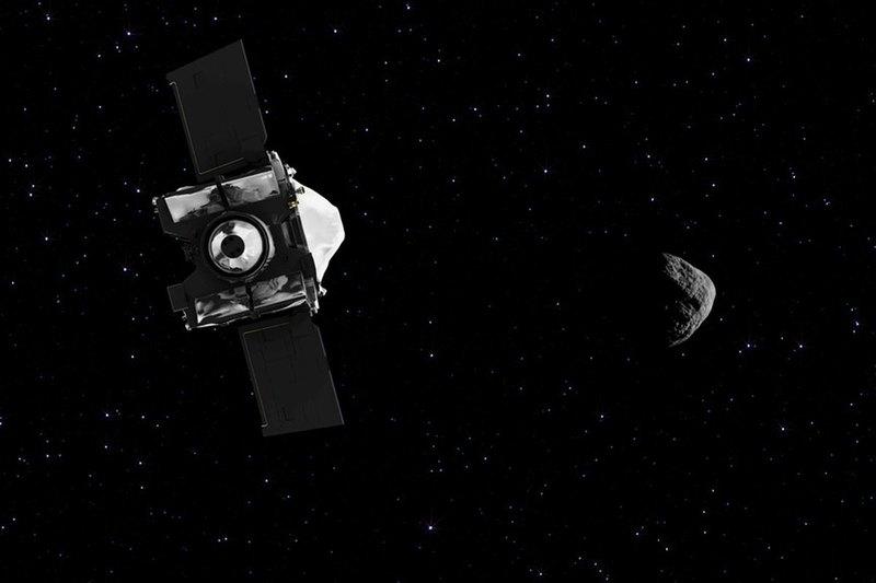 Астероид Бенну, Земля и Луна — на одном снимке