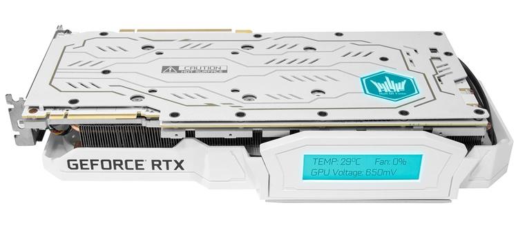 Видеокарта KFA2 GeForce RTX 2080 Ti HOF оснащена информационным дисплеем