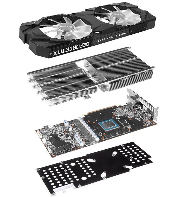 Видеокарты KFA2 GeForce RTX 2070 EX и EXOC оснащены подсветкой