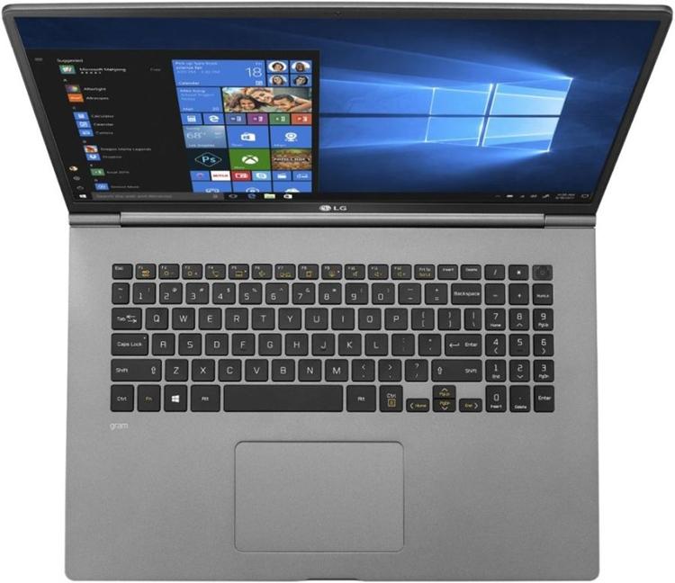 Толщина ноутбука LG Gram 17 составляет менее 18 мм