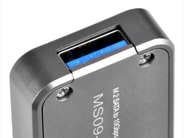 SilverStone MS09-Mini превратит модуль M.2 SSD в карманный накопитель