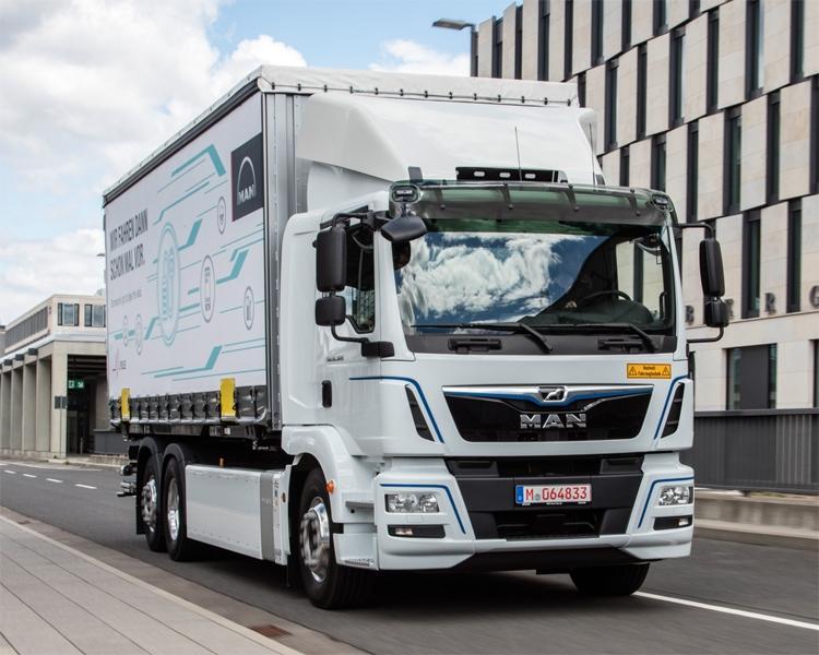 В Австрии начинаются испытания электрических грузовиков MAN eTrucks