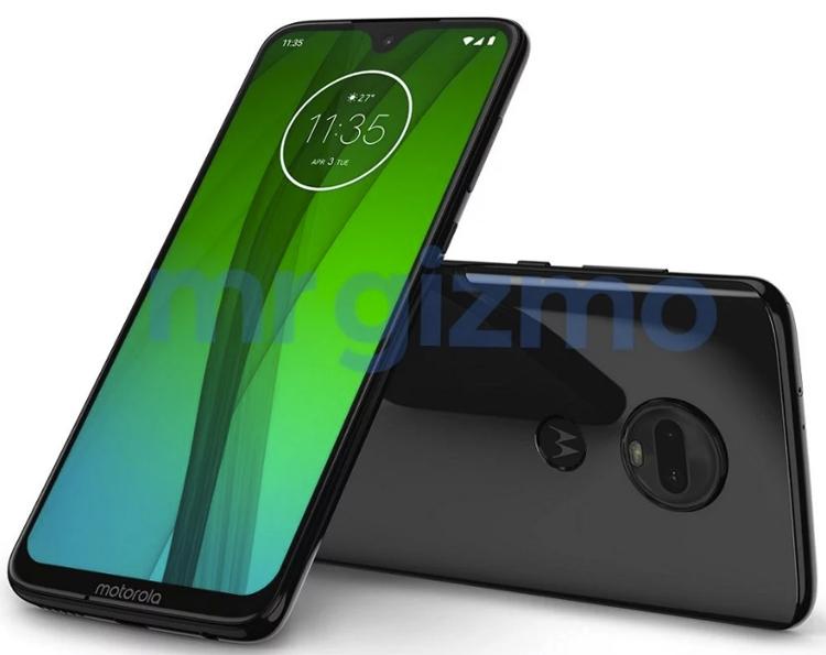 Смартфон Moto G7 Plus с каплевидным вырезом показался на рендере